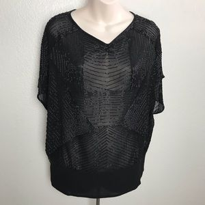 What Goes Around Comes Around Sequin Silk Top